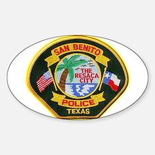 San Benito Police Sticker (Oval)
