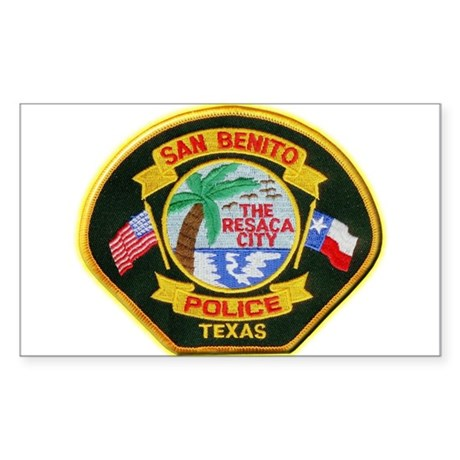 San Benito Police Sticker (Rectangle)