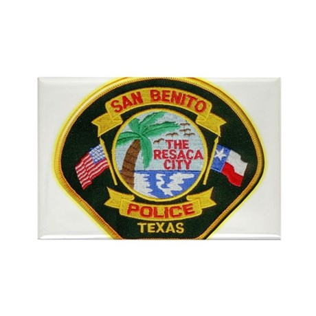 San Benito Police Rectangle Magnet (10 pack)