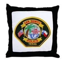 San Benito Police Throw Pillow
