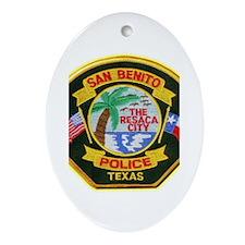 San Benito Police Ornament (Oval)