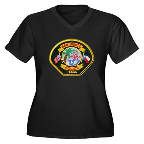 San Benito Police Women's Plus Size V-Neck Dark T-
