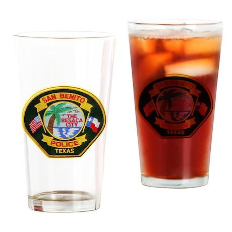 San Benito Police Drinking Glass