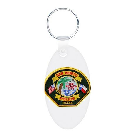 San Benito Police Aluminum Oval Keychain