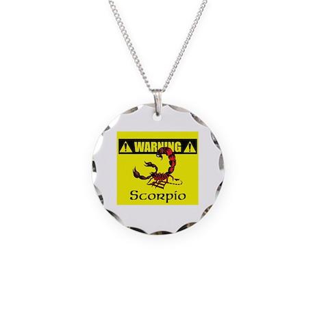 Warning: Scorpio Necklace Circle Charm