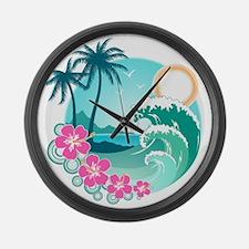 Paradise Large Wall Clock