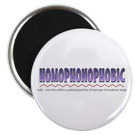 """Homophonophobic 2.25"""" Magnet (100 pack)"""