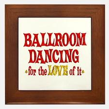 Ballroom Dancing Love Framed Tile