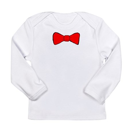 Red Bow Tie Long Sleeve Infant T-Shirt