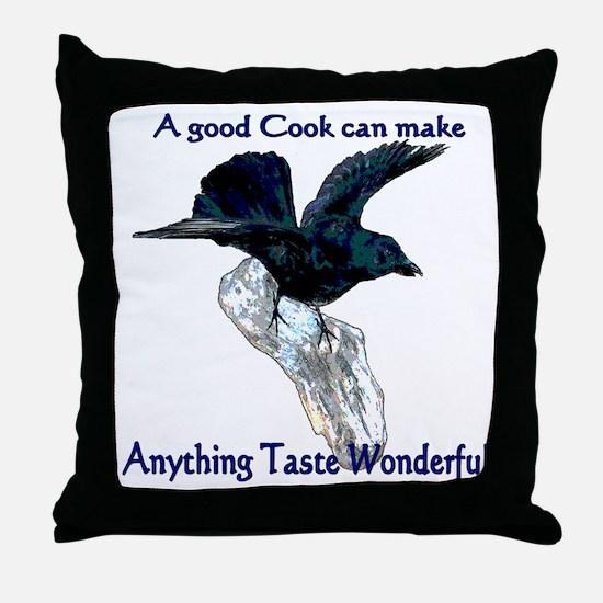 Eating Crow Throw Pillow