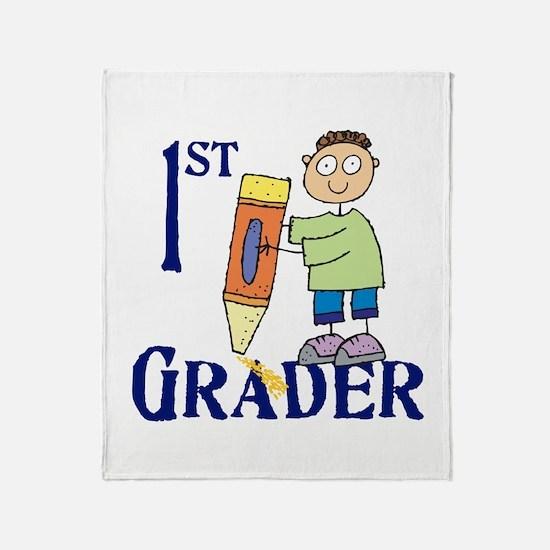 1st Grade Boy Throw Blanket