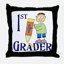 1st Grade Boy Throw Pillow