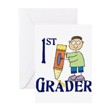 1st Grade Boy Greeting Card