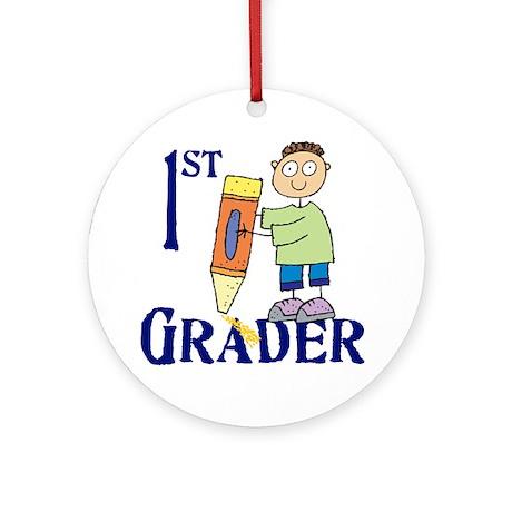 1st Grade Boy Ornament (Round)