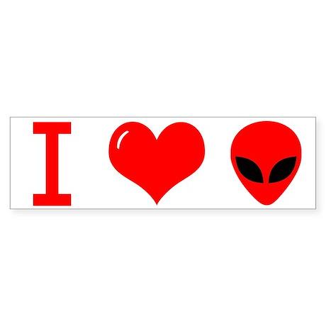 I Love Alien Sticker (Bumper 10 pk)
