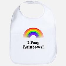 I Poop Rainbows Bib