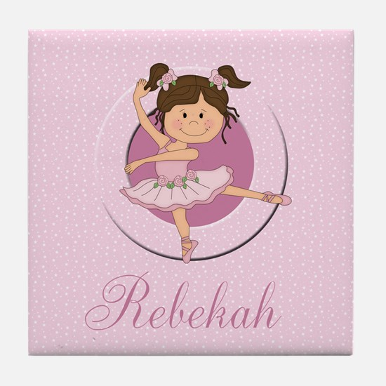 Cute Ballerina Ballet Gifts Tile Coaster