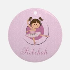Cute Ballerina Ballet Gifts Ornament (Round)