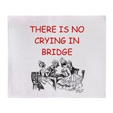 Duplicate bridge Throw Blanket