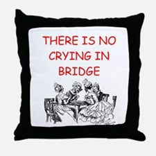 Duplicate bridge Throw Pillow