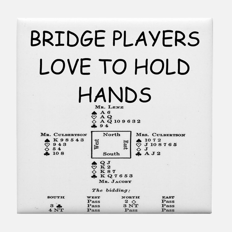 Duplicate bridge Tile Coaster