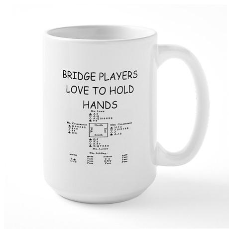 Duplicate bridge Large Mug