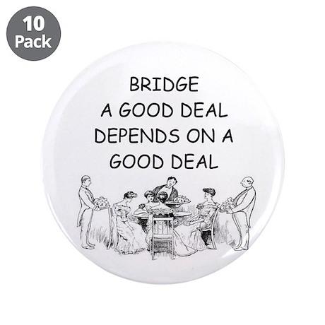 "Duplicate bridge 3.5"" Button (10 pack)"