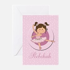 Cute Ballerina Ballet Gifts Greeting Cards (Pk of