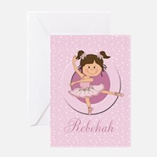 Cute Ballerina Ballet Gifts Greeting Card