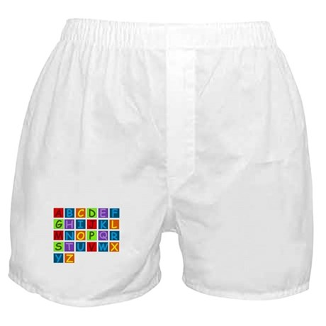 Rainbow ABC's Boxer Shorts