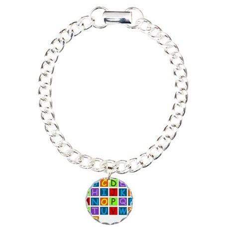 Rainbow ABC's Charm Bracelet, One Charm