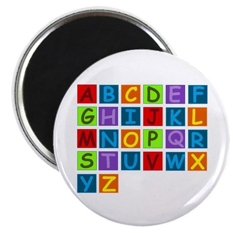 "Rainbow ABC's 2.25"" Magnet (100 pack)"