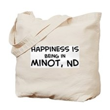 Happiness is Minot Tote Bag