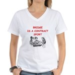 Duplicate bridge Women's V-Neck T-Shirt