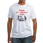 Duplicate bridge Fitted T-Shirt