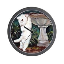 Cute Terrier art Wall Clock
