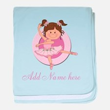 Cute Ballerina Ballet Gifts baby blanket