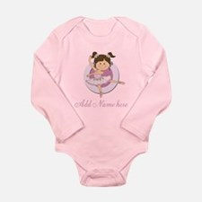 Cute Ballerina Ballet Gifts Long Sleeve Infant Bod