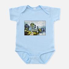 Cute Cottages Infant Bodysuit
