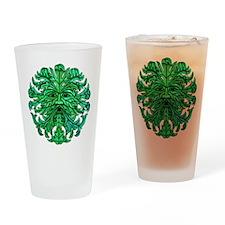 Green Man Gaze Drinking Glass