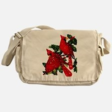 Snow Cardinals Messenger Bag