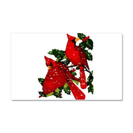 Snow Cardinals Car Magnet 20 x 12