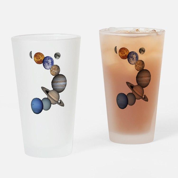 Planet Swirl Drinking Glass