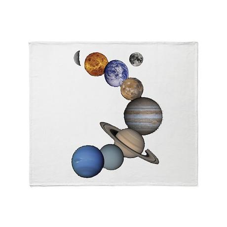 Planet Swirl Throw Blanket