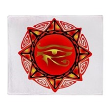 Horus Storm Throw Blanket