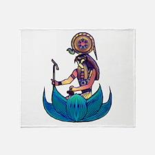 Lotus Ra Throw Blanket