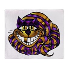 Golden Cheshire Cat Throw Blanket