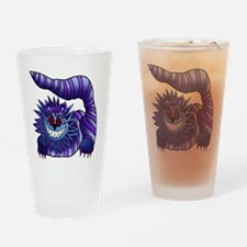 Mad Cheshire Cat Outline Drinking Glass