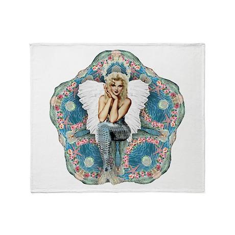 Sand Dollar Angel Throw Blanket