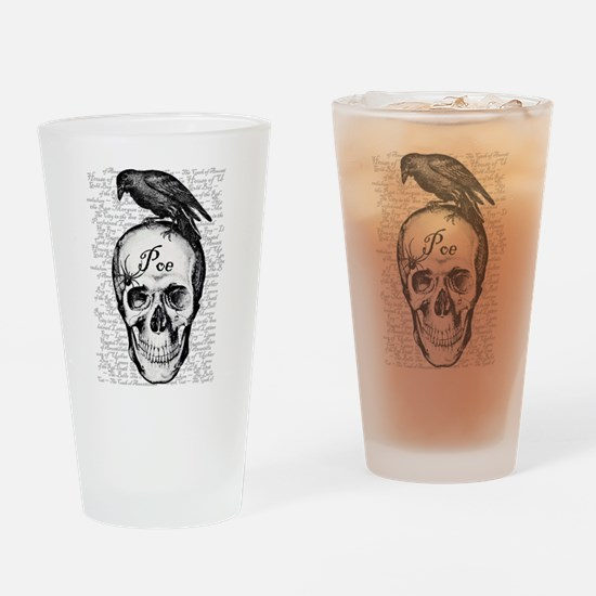 Raven Poe Drinking Glass